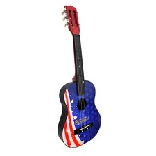 Flag Acoustic Guitar