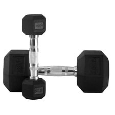 5 lbs - 25 lbs Rubber Hex Dumbbell Set