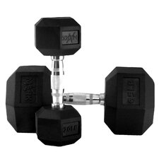 5 lbs - 65 lbs Rubber Hex Dumbbell Set