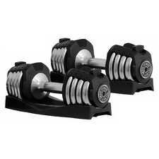 Pair of 25 lbs Adjustable Dumbbells