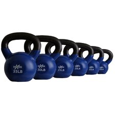 10 lbs - 35 lbs Vinyl Coated Kettlebell Set