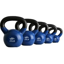 5-25 lb Vinyl Coated Kettlebell Set