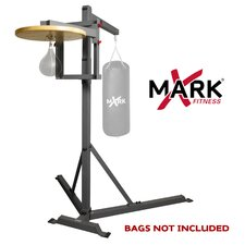 Full Commercial Heavy Bag Stand with Speed Bag Platform