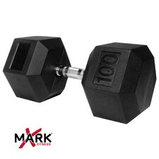 100 lb Rubber Hex Dumbbell