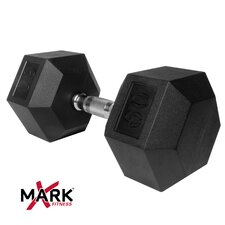 60 lb Rubber Hex Dumbbell
