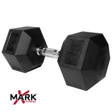 65 lb Rubber Hex Dumbbell