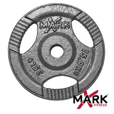 35 lb. Hammertone Gray Olympic Tri-Grip Plate Weight