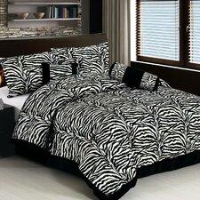 Classic 7 Piece Zebra Print Comforter Set