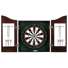 <strong>Hathaway Games</strong> Centerpoint Solid Wood Dartboard & Cabinet Set