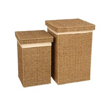 Seagrass Linen Basket 2 Piece Set