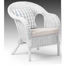 Jasper Rattan Chair with Cushion in White