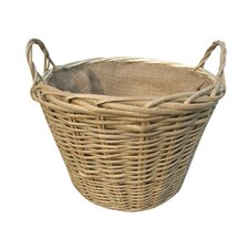 Willow Round Wild Lined Log Basket