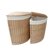 Willow Corner Laundry Basket 2 Piece Set