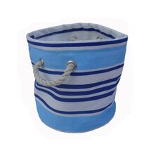 One Piece Small Round Soft Storage in Blue Stripe