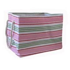 Rectangular Soft Storage in Pink Stripe