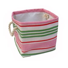 Small Square Soft Storage in Pink Stripe