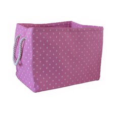 Rectangular Soft Storage in Pink Star