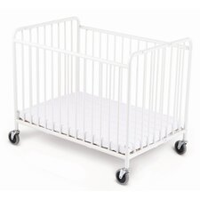 Stowaway Folding Compact Crib and Mattress Set