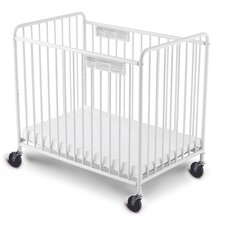 "Foundations Compact Little Dreamer™ EasyRoll™ Slatted, Non Folding Crib 4"" Casters"