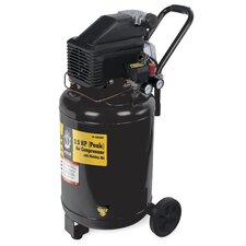 28 Gallon Vertical Air Compressor with Wheel Kit