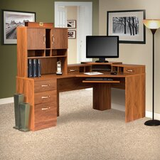 Office Adaptations Corner Desk with Hutch