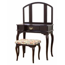 Queen Anne Vanity Set with Mirror