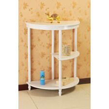 Multi Tier End Table in White