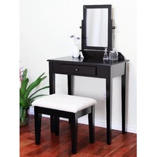 <strong>Mega Home</strong> Contemporary Vanity Set with Mirror