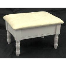 <strong>Mega Home</strong> Queen Anne Style Wood Footstool with Storage