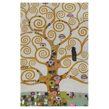 Abstract Art Klimt Tree Of Life Chain-stitch Rug