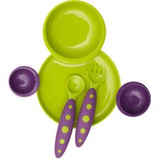 <strong>Boon</strong> Groovy Interlocking Plate And Bowl with Modware in Kiwi / Grape