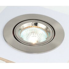 Cast One Light Tilt Recessed Downlight in Satin Silver