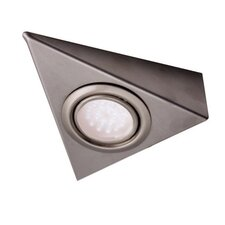 Roxy White LED Triangle Under Cabinet Light in Satin Nickel