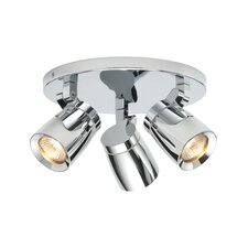 Knight Circular 3 Light Ceiling Spotlight