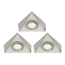 Roxy Three Light Triangular Cabinet Light Kit in Satin Nickel Plate