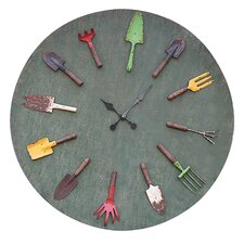 "Oversized 36"" Garden Tools Wall Clock"