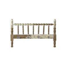 The Painted Porch Wood Spindle Bed Headboard with Knobs
