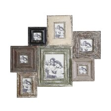 Turn of the Century Wood and MDF Wall Photo Collage Picture Frame