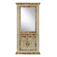 Chateau Wood Framed Mirror with 3 Taper Holders