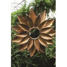 Uptown Metal Dahlia Flower Mirror