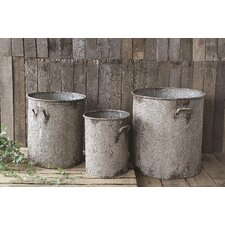 <strong>Creative Co-Op</strong> Casual Country Iron Barrel (Set of 3)