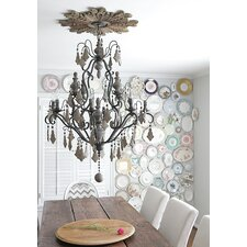 Chateau Crystal/Wood 38-Light Chandelier