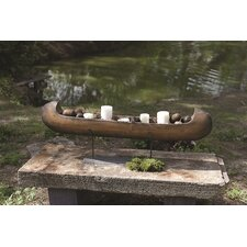 Lake Living Canoe on Metal Stand