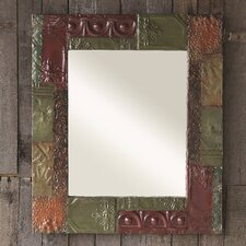Hacienda Wood and Tin Framed Mirror