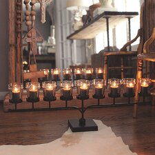 Sanctuary Iron Votive Holder with 9 Glass Cups