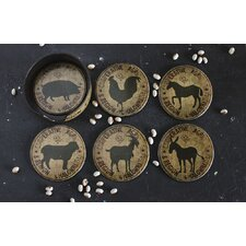 Country Coaster 7 Piece Coaster Set