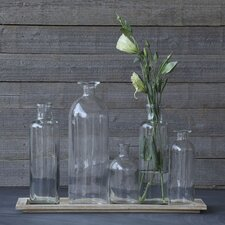 6 Piece Simply Natural Tray with Vase Set