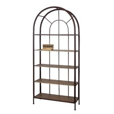 Metal Framed Bookshelf with 5 Shelves