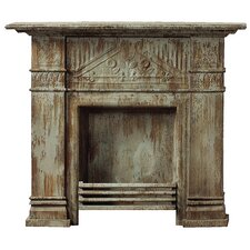 <strong>Creative Co-Op</strong> Iron and Tin Fireplace Surround