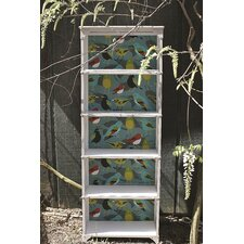 Painted Metal 5 Shelf Bookcases